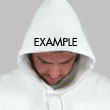 Readable Hood Up Hood Print Style
