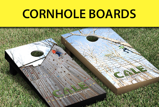 Custom cornhole boards and decals