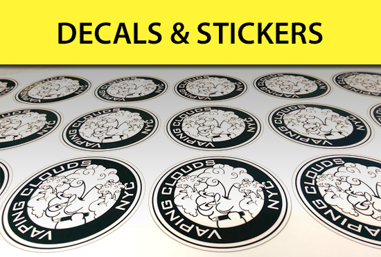 Custom stickers and decals - die cut, vinyl, weather proof