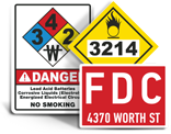 Fire Emergency Signs