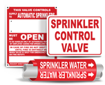 Fire Sprinkler Signs