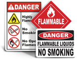 Flammable and Hazmat Signs