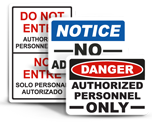 Keep Away Signs